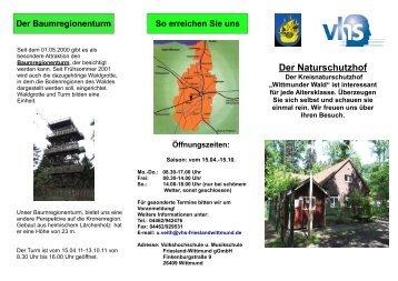 Der Naturschutzhof - Volkshochschule und Musikschule Friesland ...