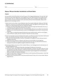 6.2 Stoffwechsel Klausur: Pflanzen betreiben ... - Klett-Verlag