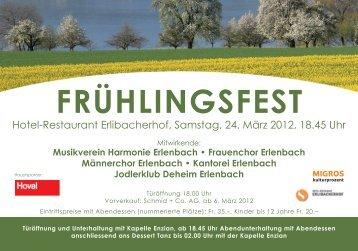 Frühlingsfest Programm - Jodlerklub Deheim Erlenbach