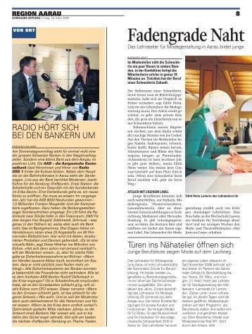 Fadengrade Naht - Kantonale Schule für Berufsbildung