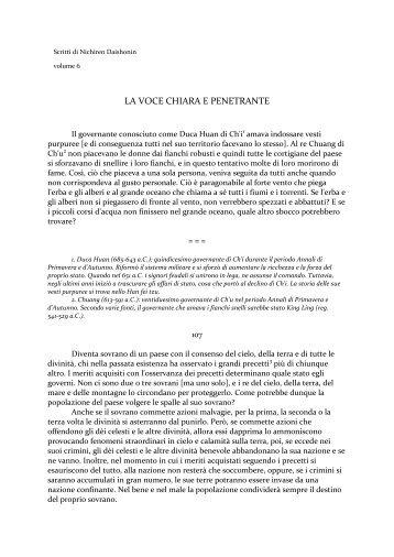 LA VOCE CHIARA E PENETRANTE - Verobuddismo.Ru