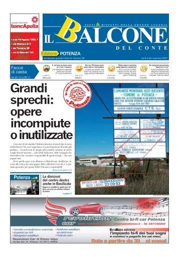 Grandi sprechi: opere incompiute o inutilizzate - Giornale Lucano
