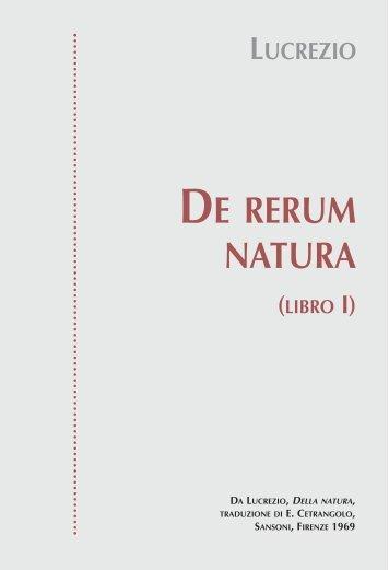 DE RERUM NATURA - Libreria Web - Atlas