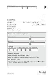 NATIONAL QUALIFICATIONS LATIN - Scottish Qualifications Authority