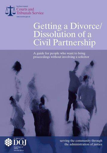 Getting a Divorce/Dissolution of a Civil Partnership (PDF) - Northern ...
