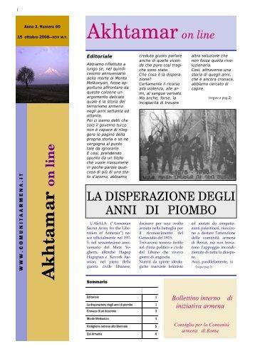 Anno III, numero 60 - Comunità Armena di Roma