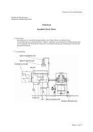 Kennenlernen der wesentlichen Eigenschaften eines Diesel-Motors ...