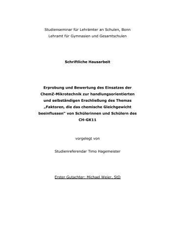 Hausarbeit Hagemeister gekuerzt_Text - Lebensnaher ...