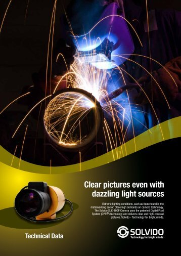 Clear pictures even with dazzling light sources - Videor