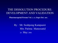 THE DISSOLUTION PROCEDURE: DEVELOPMENT AND ...
