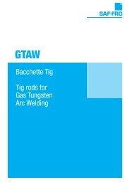 Bacchette Tig Tig rods for Gas Tungsten Arc Welding - Saldcut