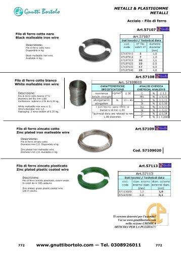 catalogo gnutti bortolo metalli&plastigomme e chimica