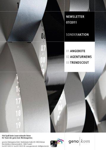 Juli 2011 - geno kom Werbeagentur GmbH
