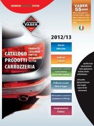 Catalogo prodotti per carrozzerie - Vaber Industriale SpA