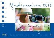 Jahreskatalog - Volkshochschule Speyer