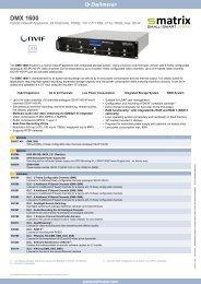 DMX 1600 - Videor