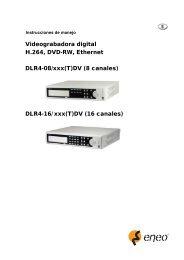 Videograbadora digital H.264, DVD-RW, Ethernet DLR4-08 ... - Videor
