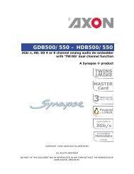 GDB500/550 – HDB500/550 - Videor