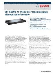 VIP X1600 XF Modularer Hochleistungs-Videoencoder ... - Videor