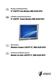 "8"" LCD/TFT Farb-Monitor, VMC-8LCD-CP01 8"" - Videor"
