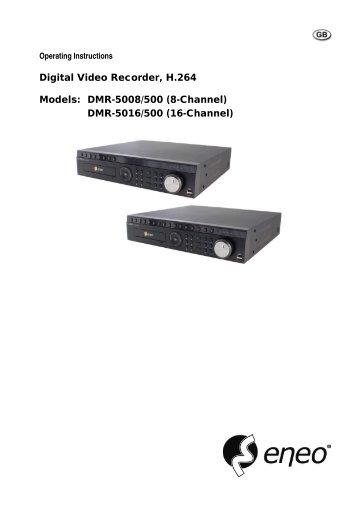Digital Video Recorder, H.264 Models: DMR-5008/500 (8-Channel ...