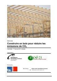 Construire en bois pour réduire les émissions de CO2 - Lignum