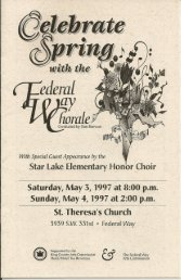 St.Theresa's Church - Federal Way Chorale