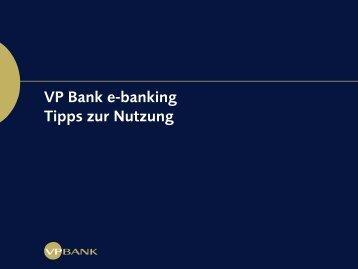 e-banking Schnellstart (PDF, 1075 KB) - VP Bank
