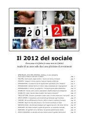 Il 2012 del sociale - Redattore Sociale