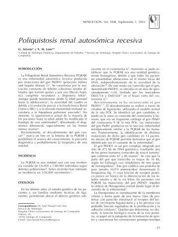 Poliquistosis renal autosómica recesiva - Nefrología