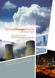 Climate Change Science Paper - The Centre for Australian Weather ...