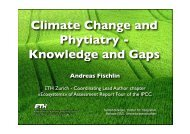 Climate Change and Phytiatry - Knowledge and Gaps
