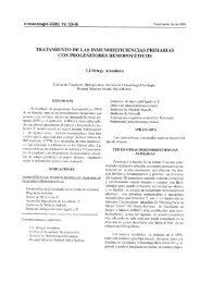 tratamiento de las inmunodeficiencias primarias con progenitores ...