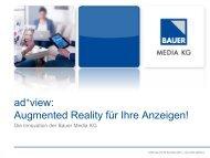 ad+view: Augmented Reality für Ihre Anzeigen! - Bauer Media Group
