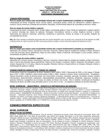 CONHECIMENTOS ESPECÍFICOS - Apostilas para Concursos - Mix ...