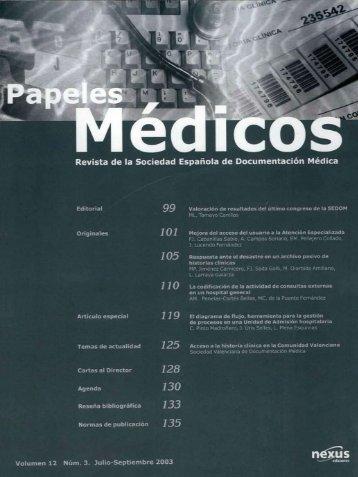 Papeles Médicos, Volumen 12 número 3 - Sedom