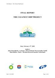 FINAL REPORT THE CLEANEST SHIP PROJECT