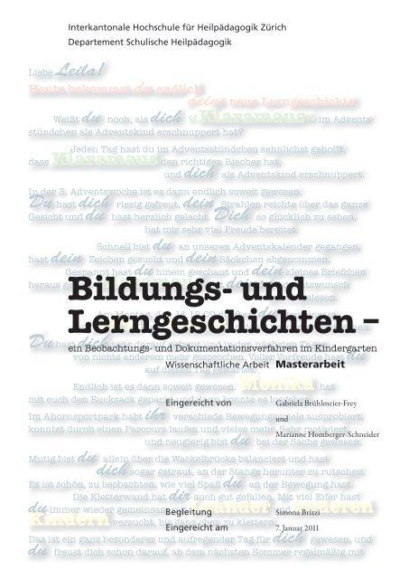 Bildungs Und Lerngeschichten Bscw