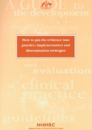 How to put the evidence into practice: implementation and ...