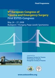 9th European Congress of Trauma and Emergency Surgery First ...