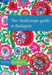 The VitalEurope guide to Budapest
