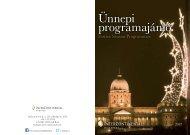 Ünnepi programajánló - InterContinental Budapest