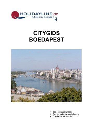 CITYGIDS BOEDAPEST - Bloggen.be