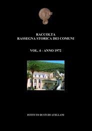 raccolta rassegna storica dei comuni vol. 4 - anno 1972