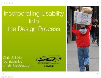 Incorporating Usability Into the Design Process - Indiana World ...