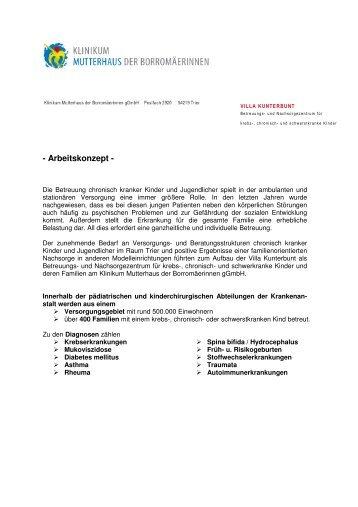 Arbeitskonzept zusammen - Villa Kunterbunt