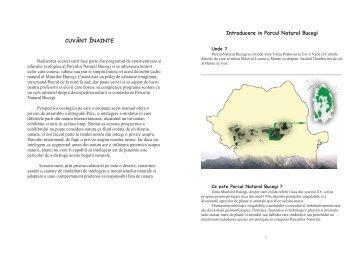 download Manualul Parcului Natural Bucegi - Parcul Natural Bucegi