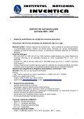 RAPORT DE AUTOEVALUARE - Institutul National de Inventica Iasi - Page 2
