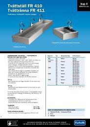 Tvättställ FR 410 Tvättränna FR 411 - AB Furhoffs Rostfria