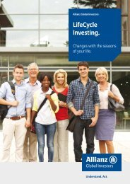 Lifecycle Fact Sheet - Allianz Global Investors